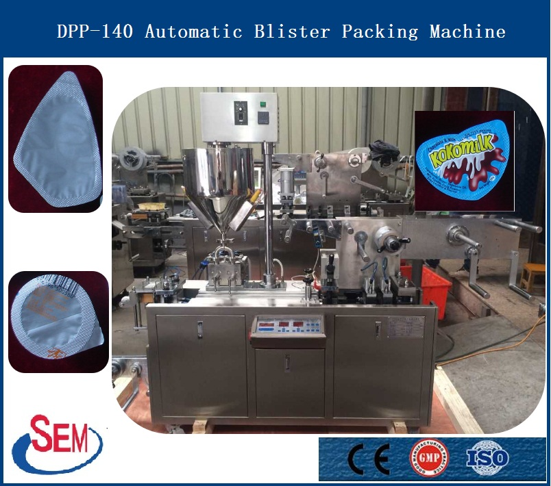 mini blister packing machine for jam ketchup packing