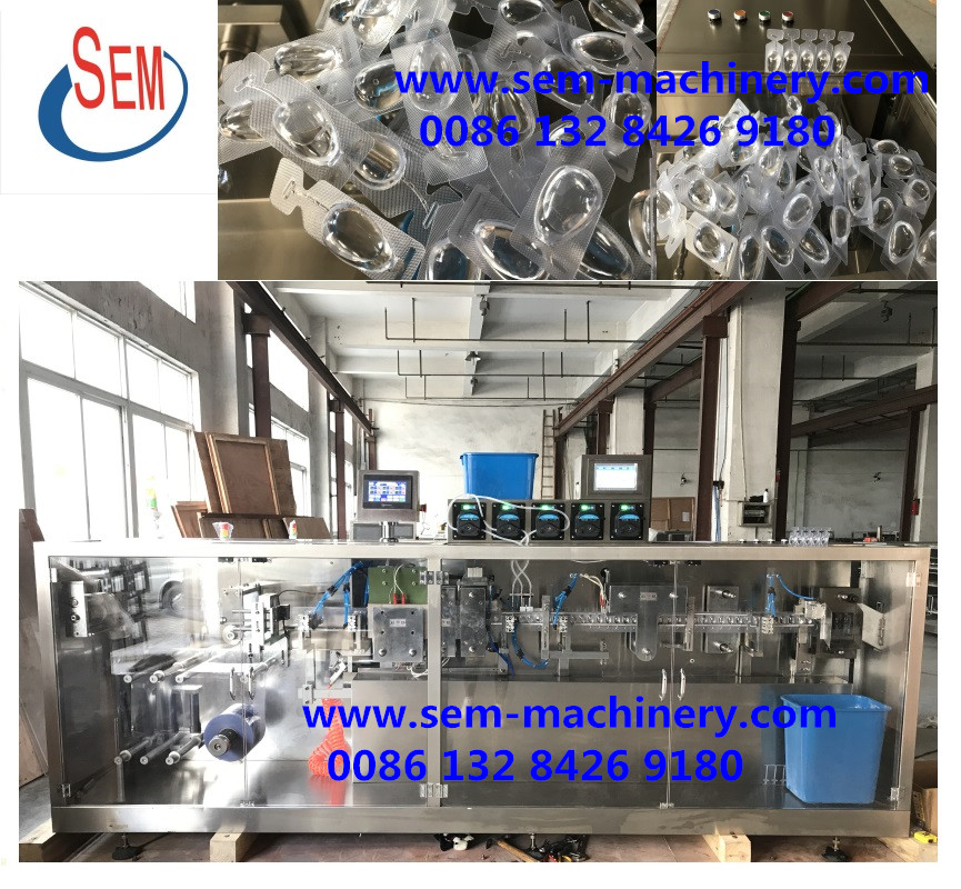 PVC/PE plastic ampoule filling packing machine