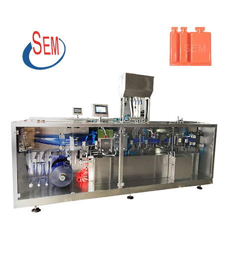 plastic ampoule liquid filling sealing machine