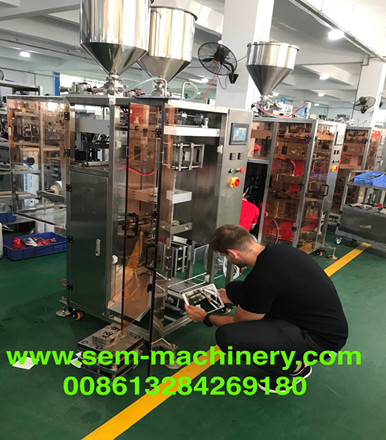 USA customer coming for inspection for sachet packing machine