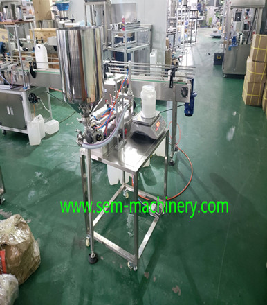 semi-atuomatic tube filling machine