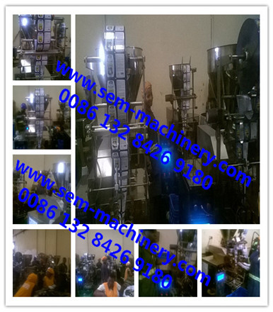 Automatic sachet packing machines running in customer factory