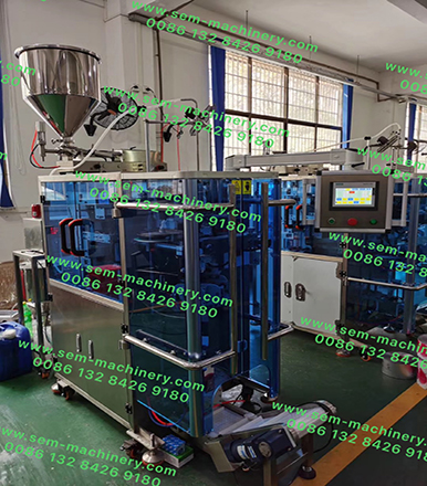 Automatic Liquid Packing Machine Finished Production