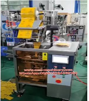 Automatic Cosmetic Sachet packing machine