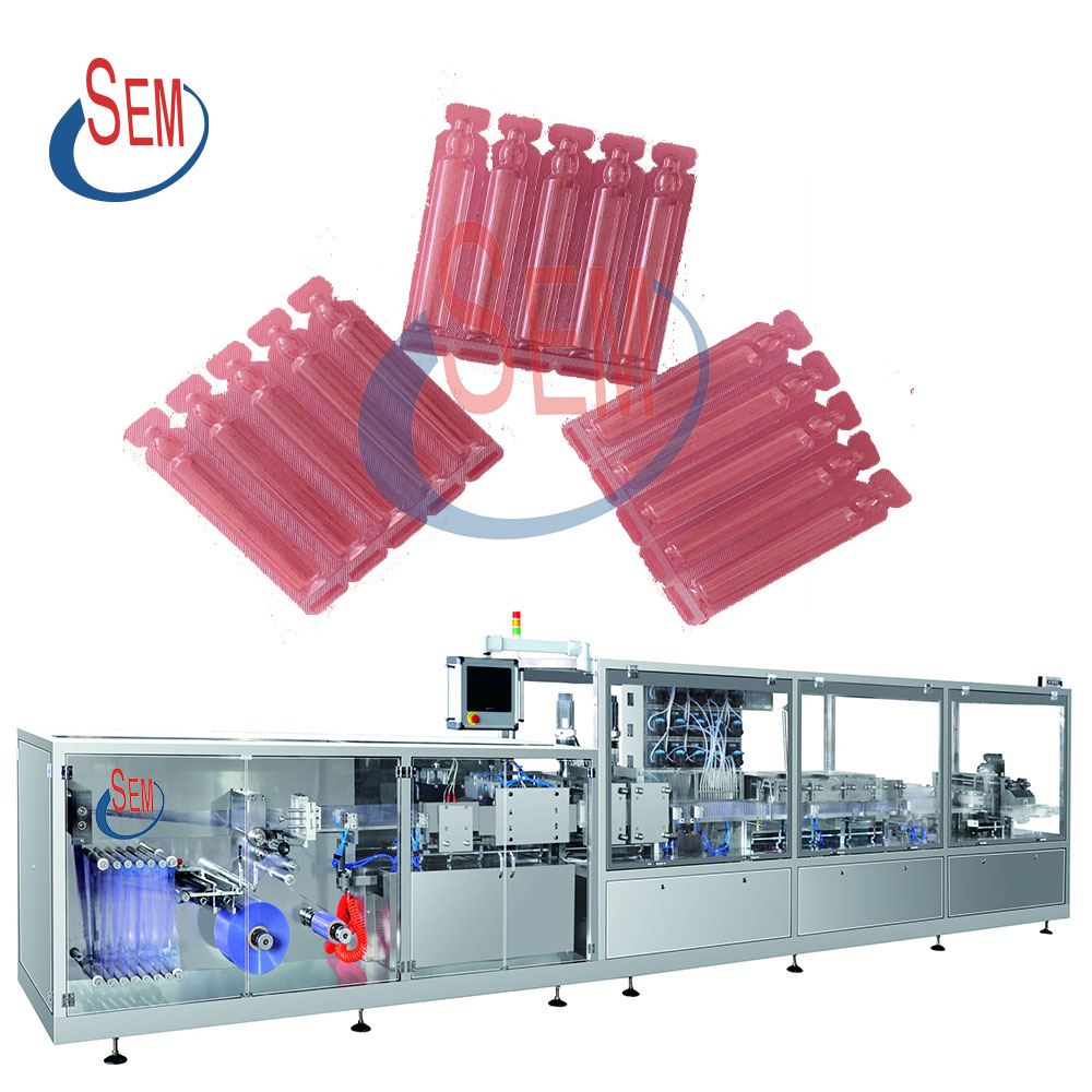 Plastic bottle forming oral liquid filling and sealing machine with labeling machine