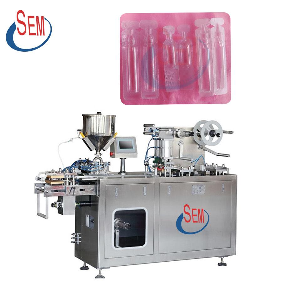 DPP140 Automatic jam honey butter filling mini liquid blister packing machine