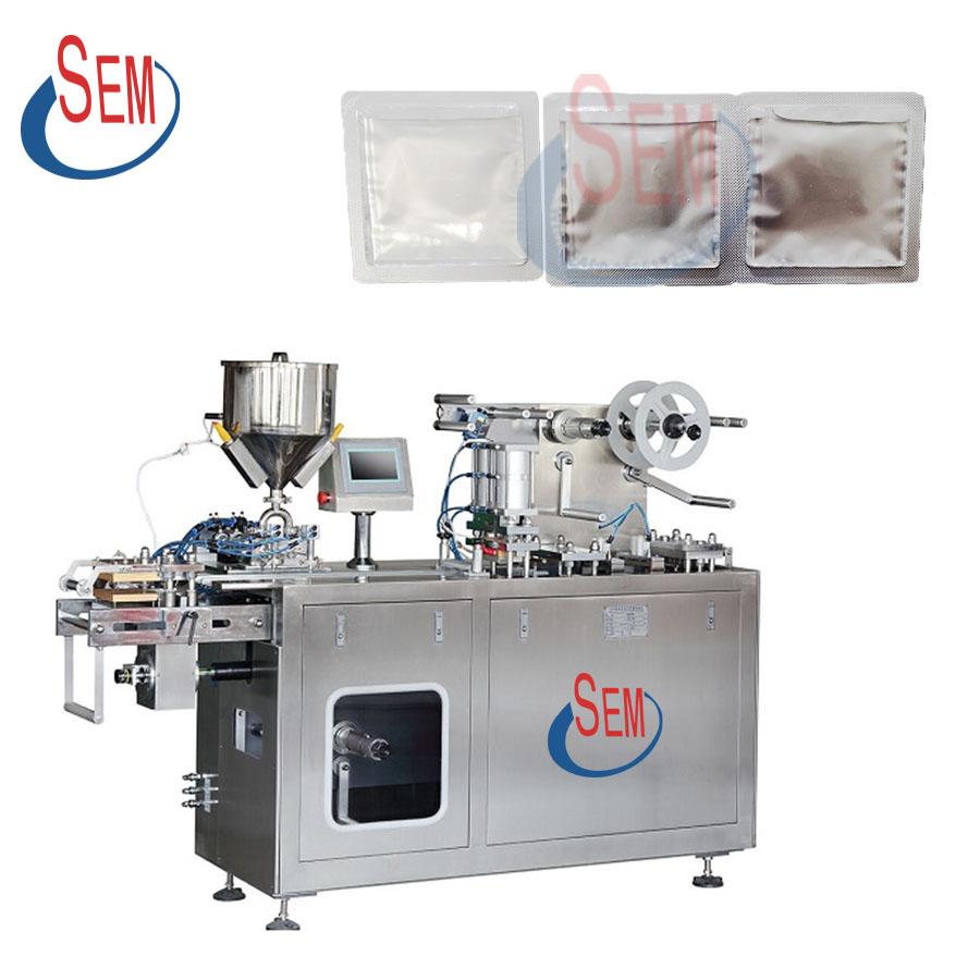 DPP-140 Plastic alumnimum peanut butter filling small blister packaging machine