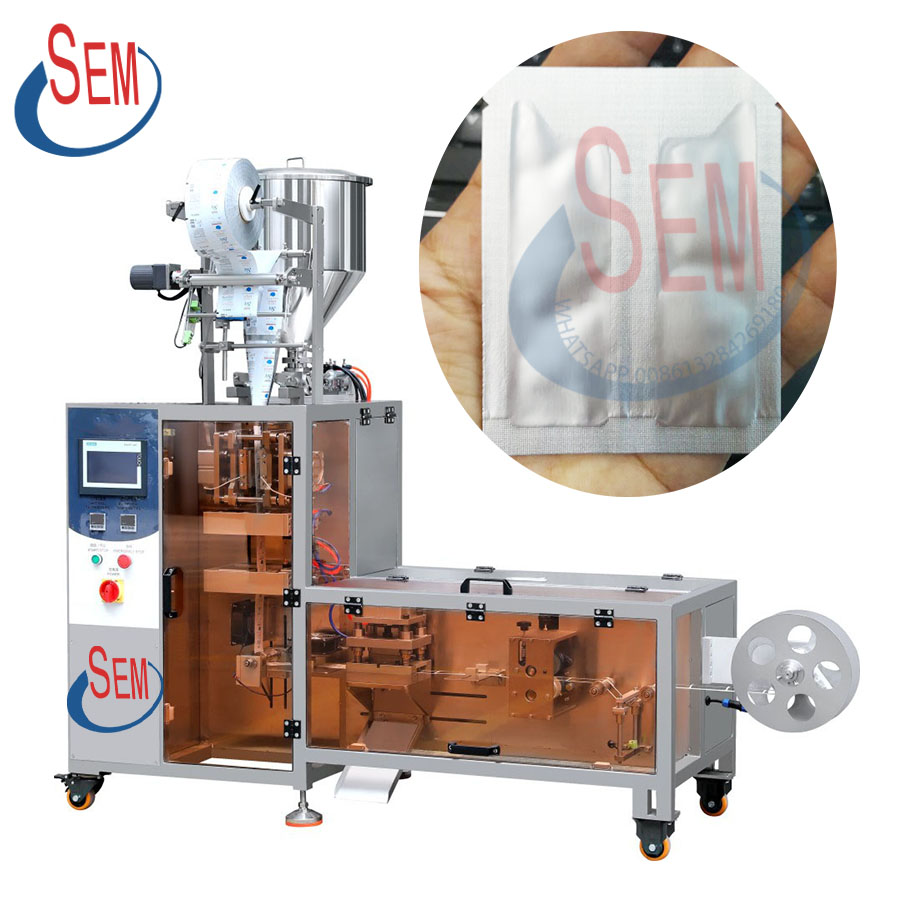 Cosmetic sample cream and shampoo filling packing machine