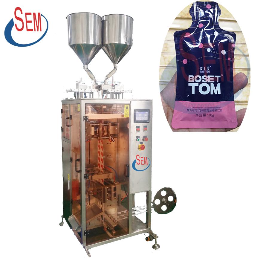 Automatic shampoo cream liquid paste jelly gel sachet bag pouch packaging machine