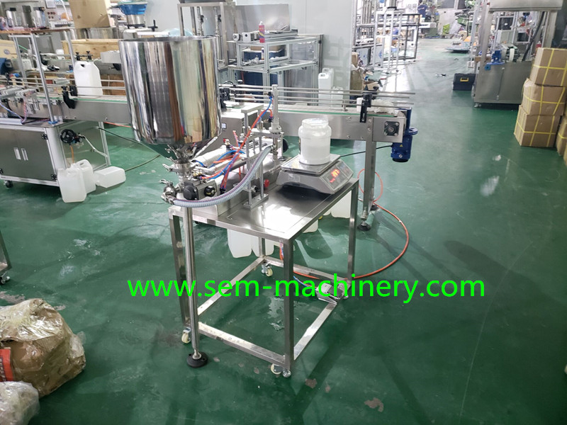 semi-atuomatic tube filling machine