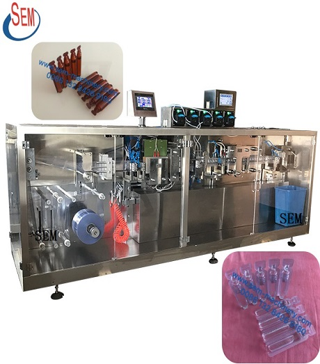 stand up plastic ampoule filling and sealing machine