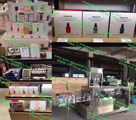 Congradulations-Cosmetic Face Mask Produced by Our Liquid Packing Machine is showing in every duty free shop and shopping mark in Korea