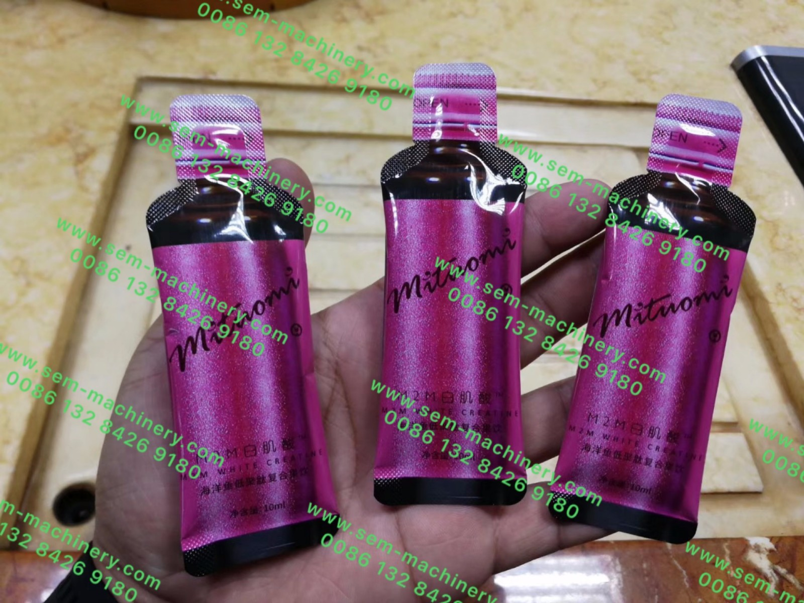 bottle shape sachet packing machine
