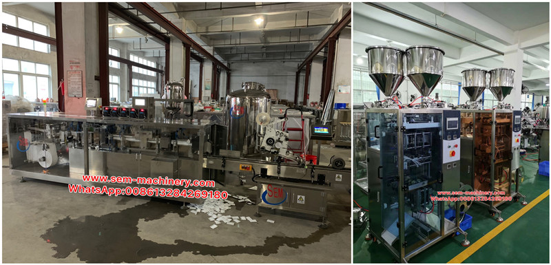 Twin Pack Sachet Packing Machine Finished Production
