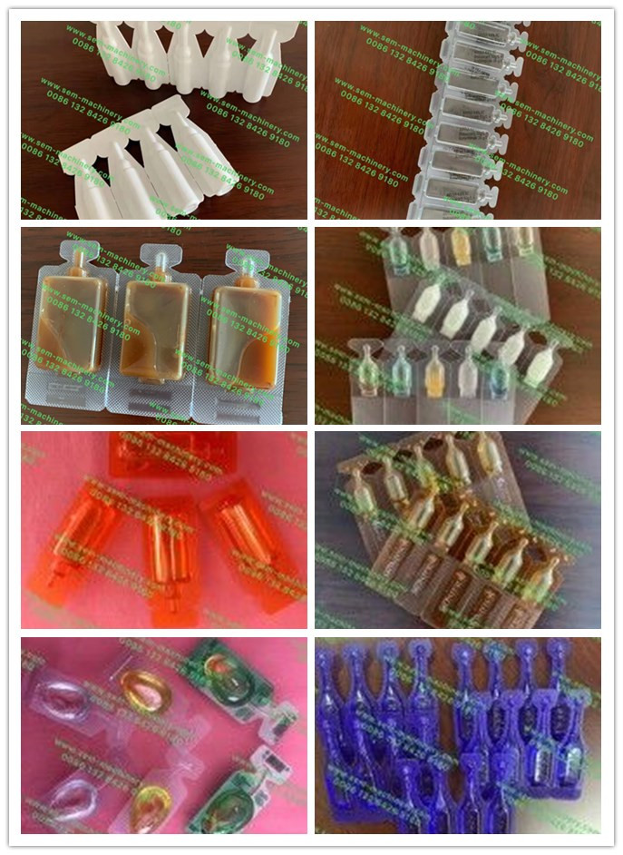 Recent plastic ampoule samples for reference