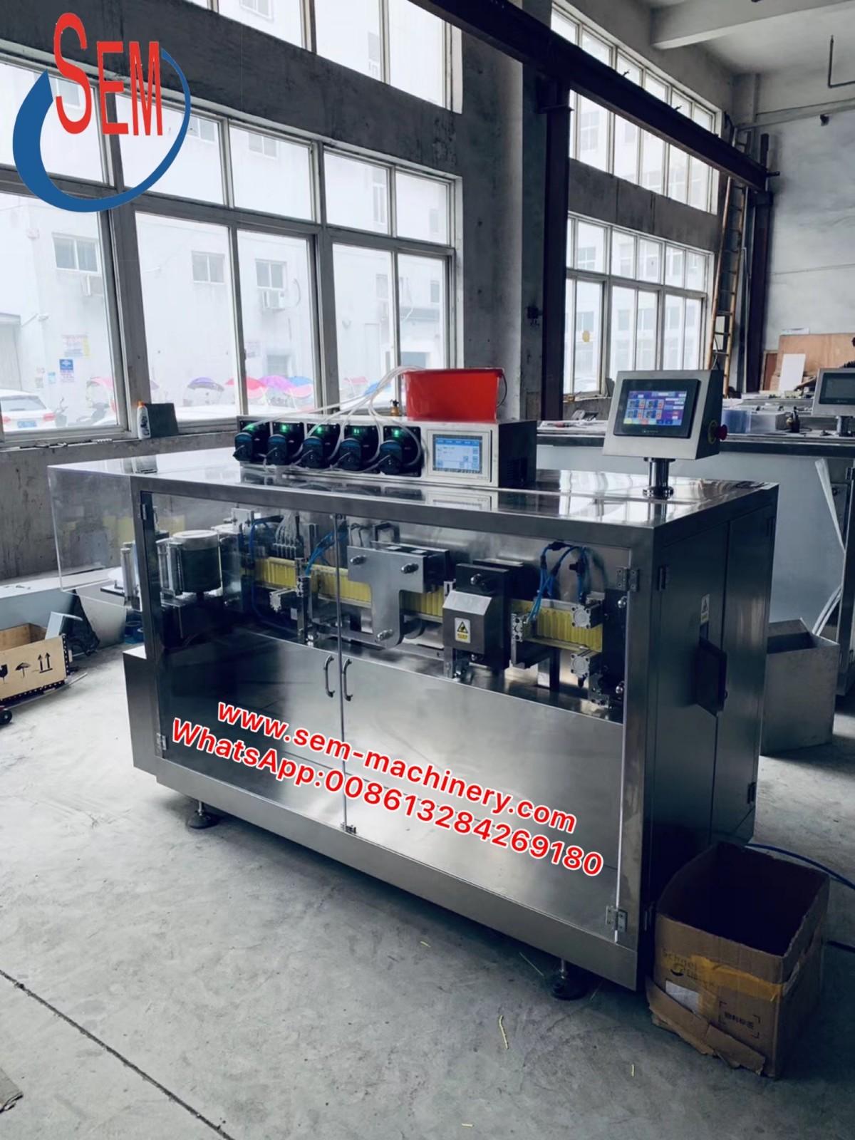 Automatic Plastic Ampoules Liquid Packing Machine
